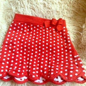 Children's (Girl) Polka Dot skirt